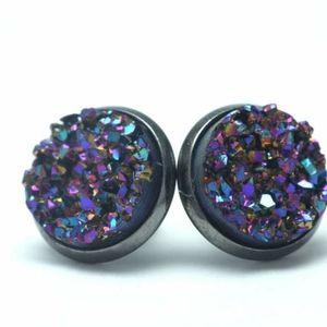 12mm Dragonscale Geode Earrings